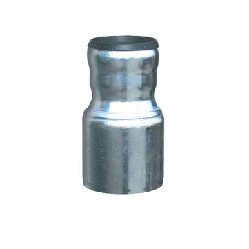 LOROWERK Übergangsrohr 70/100 mm konzentrisch Feuerverzinkt