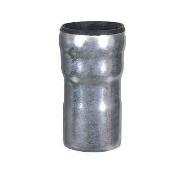 LOROWERK Anschlussstück SML und Kunststoffrohrmuffe 100/70 mm Feuerverzinkt