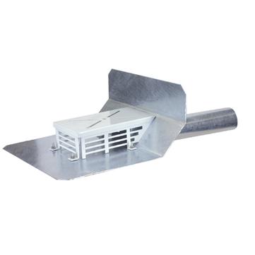 LOROWERK Attikaablauf DN100 mit Klebeflansch für Bitumen-Dachabdichtung Feuerverzinkt