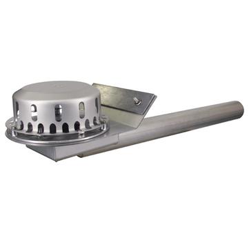 LOROWERK Rainstar Attikaablauf 70 mm RA mit Klemmflansch für Bitumen-Abdichtungsbahnen