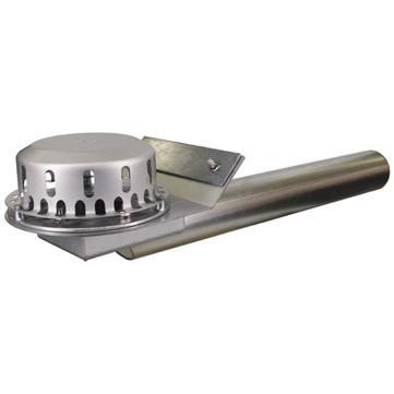 LOROWERK Rainstar Attikaablauf 100 mm RA mit Klemmflansch für Bitumen-Abdichtungsbahnen