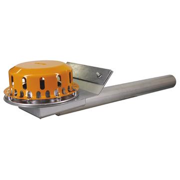 LOROWERK Rainstar Attika Notablauf 70 mm RB mit Klemmflansch für Bitumen-Abdichtungsbahnen