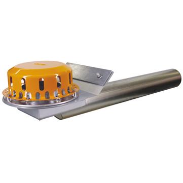 LOROWERK Rainstar Attika Notablauf 100 mm RB mit Klemmflansch für Bitumen-Abdichtungsbahnen