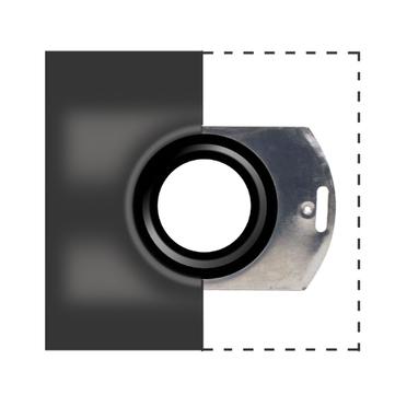 LOROWERK Schiebeflansch DN 70 mm mit Anschlussmanschette Bitumen