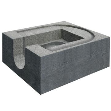LOROWERK Wärmedämmblock Foamglas 13845.für Rainstar Attika Ablauf