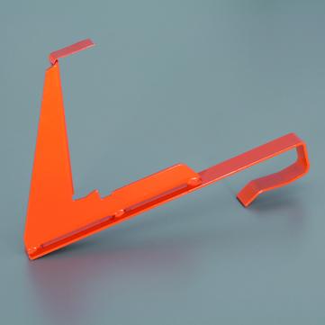 OVERHOFF Schneefanggitter Stütze universal für Gitterhöhe 200 mm zum Einhängen mit Verstärkungsbogen Feuerverzinkt
