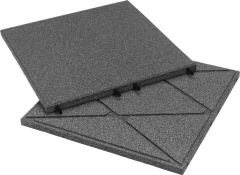 KRAIBURG Kraitec step 30 mm 500x500 mm Gehwegplatte 45 m2/Palette Grau