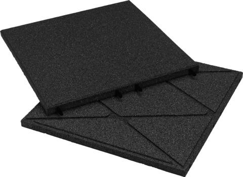 KRAIBURG Kraitec step 30 mm 500x500 mm Gehwegplatte 45 m2/Palette Schwarz