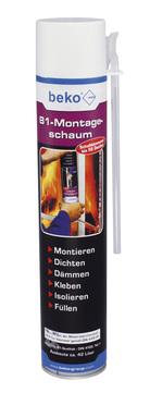 Beko Montageschaum B1 750 ml Polyurethanschaum