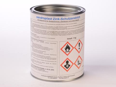 Sandroplast Schutzanstrich 1 L Farbe für Zink Schwarz