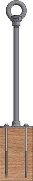 ABS Safety Lock X LX-H-400-4 400 mm für Holz Edelstahl V2A