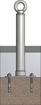 ABS Safety Lock X LX-SR-B-500 500 mm zum Einschlagen/Dübeln für Beton Edelstahl V2A
