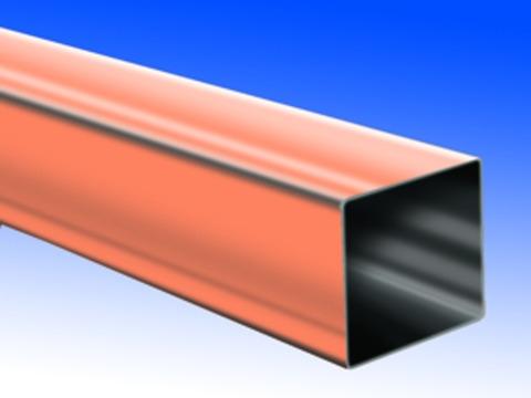Biermann&Heuer 10-teilige Fallrohr Kasten 0,60 mm 2 m gefalzt Kupfer