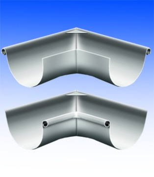 Biermann + Heuer 6-teilige Rinnenaußenwinkel halbrund 0,70 mm gelötet 90 Grad Titanzink
