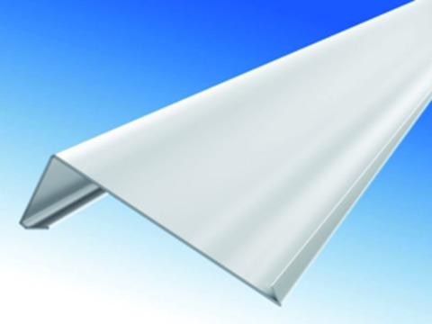 Biermann&Heuer Traufstreifen 200/0,70/ 90 Grad 3 m Falz 3 -kantig Titanzink