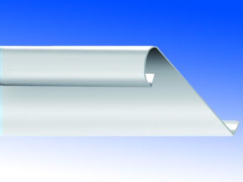Biermann&Heuer Traufstreifen 200/0,70 mm 3 m mit Falz Wulst Titanzink