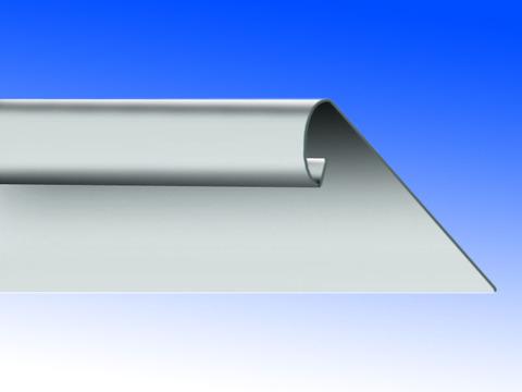 Biermann&Heuer Traufstreifen 167/0,70 mm 3 m glatt Wulst Titanzink