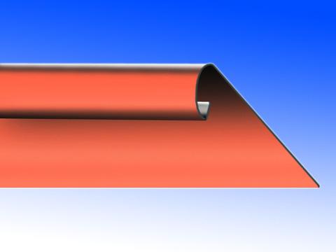 Biermann&Heuer Traufstreifen 200/0,60 mm 3 m glatt Wulst Kupfer