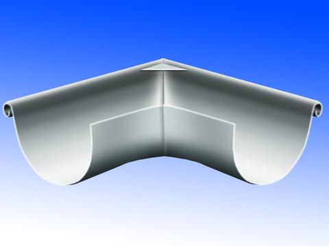 Biermann + Heuer 7-teilige Rinnenaußenwinkel halbrund 0,80 mm tiefgezogen Titanzink