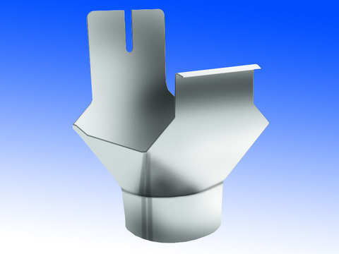Biermann + Heuer 4-teilige Rinneneinhangstutzen rund 500/120 mm gerade Titanzink