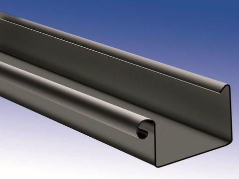 Biermann + Heuer 8-teilige Dachrinne Kasten 0,70 mm 3 m Titanzink Anthra