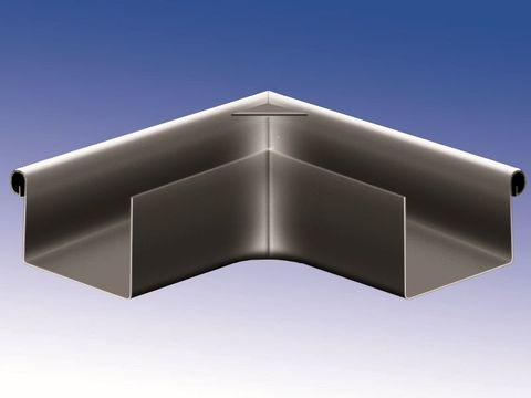 Biermann + Heuer 6-teilige Rinnenaußenwinkel Kasten 0,70 mm gelötet Titanzink Anthra