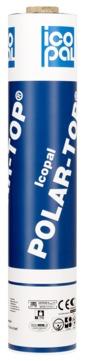Icopal POLAR-TOP 4,5 mm granuliert 1,00x5,00 m mit Rillen-VARIO Schwarz