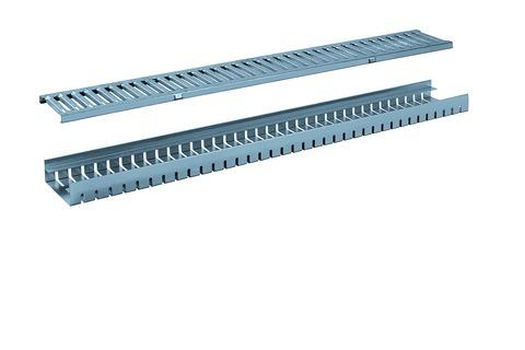HDI-Bolte Entwässerungsrinne 130x1000 mm Höhe 30 mm mit Stegrost Verzinkt