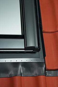 Roto Eindeckrahmen Rx wärmegedämmt 1x1 Dacheindeckung Pfannen/Ziegel ZIE 09/14 Designo Alu