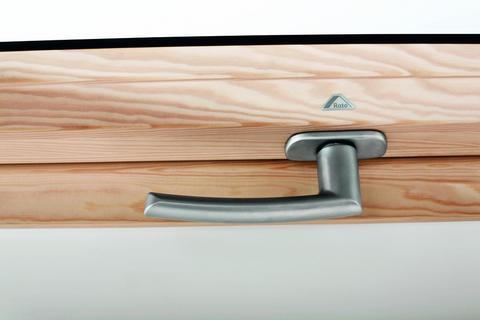Roto Zubehör ZUB Griff Wohndachfenster WDF R6/R8 Holz WSAR8 Holz Designo Silber