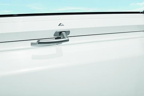 Roto Zubehör ZUB Griff Wohndachfenster WDF R6/R8 Kunststoff Wohnsicherheitsausstieg Kunststoff WSA K Designo Silber