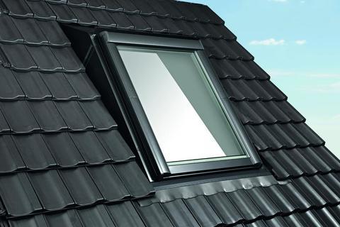Roto Einbaurahmen Aufkeil Rx 1x1 Dacheindeckung Pfannen/Ziegel ZIE 11/14. . . -120 mm Designo WD wärmegedämmt Alu