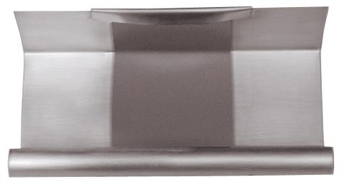 Grömo 6-teilige Rinnendila Kasten 0,70 mm 0,26 m einseitig vulkanisiert Titanzink