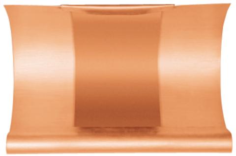 Grömo 6-teilige Rinnendila halbrund 0,60 mm 0,26 m einseitig vulkanisiert Kupfer