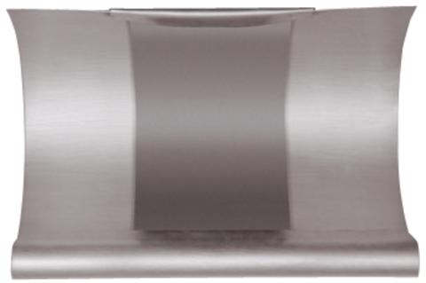 Grömo 6-teilige Rinnendila halbrund 0,70 mm 0,26 m einseitig vulkanisiert Titanzink