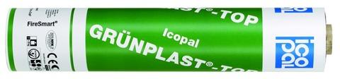 Icopal GRÜNPLAST-TOP QS 5x1 m Rillen-Vario mit Folie Steingrau