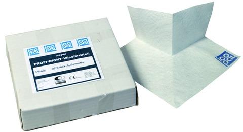 Icopal Profi-Dicht Vliesformteil Außenecke AE Außenecke Verpackungseinheit 32 Stück Weiß