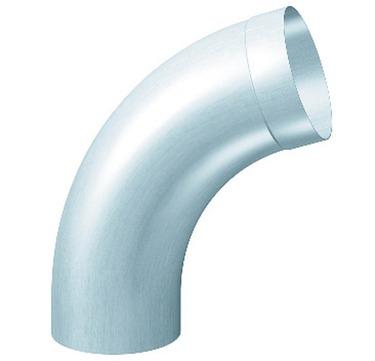 RHEINZINK 5-teilige Fallrohrbogen 72° 120 mm mit Muffe Titanzink prePATINA walzblank