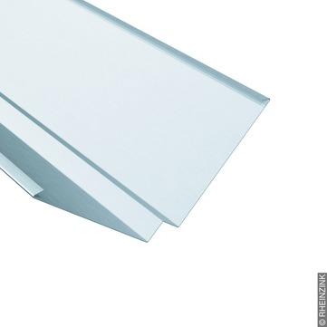 RHEINZINK Kehle 500/0,70 mm 2 Falze 3 m Mittelsteg Titanzink prePATINA walzblank