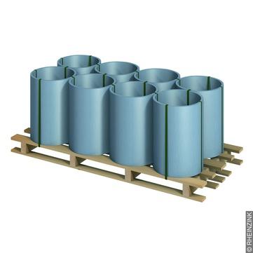 RHEINZINK Band 0,70/ 600 mm 100 kg Titanzink prePATINA blaugrau