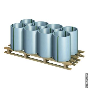 RHEINZINK Band 0,70/ 400 mm 100 kg Titanzink prePATINA walzblank
