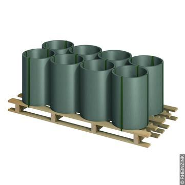 RHEINZINK Band 0,80 mm/ 670 mm 100 kg 8 Bänder / Palette Prepatina schiefergrau