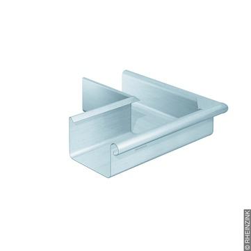 RHEINZINK 10-teilig Rinnenaußenwinkel Kasten 0,65/300 mm gelötet Titanzink prePATINA walzblank