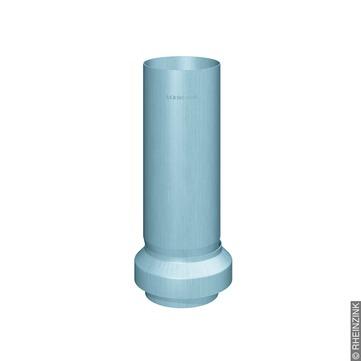 RHEINZINK 6-teilige Standrohr Reviso mit Standrohrkappe 100 mm 100/116 mm Titanzink prePATINA blaugrau