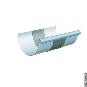 RHEINZINK 6-teilige Rinnendila halbrund 0,80 mm Titanzink prePATINA blaugrau