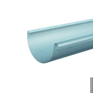 RHEINZINK 6-teilige Dachrinne halbrund 0,70 mm 3,0 m Titanzink prePATINA blaugrau