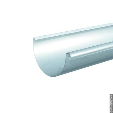 RHEINZINK 7-teilige Dachrinne halbrund 0,70mm 5,0m Classic walzblank