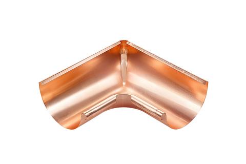 Grömo 6-teilige Rinneninnenwinkel halbrund 0,60 mm Inneneck gezogen 333 mm Kupfer