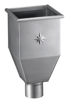 Grömo 5-teilige Wasserfangkasten 120 mm lange Form, 220x220x470 mm Titanzink