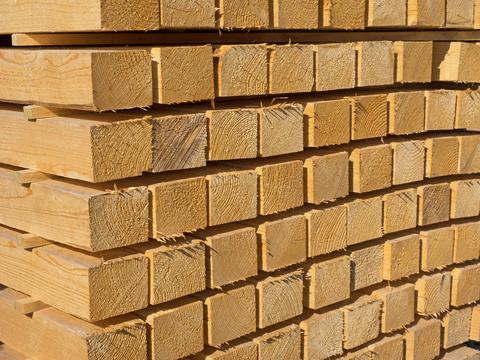 Holz Kantholz 120/120 mm technisch getrocknet roh Holzfeuchtigkeit < 20 % Länge 4,50 m